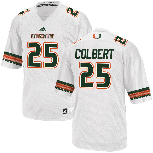 Men's Adrian Colbert Miami Hurricanes Limited White adidas Jersey