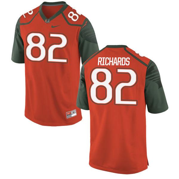 Men's Nike Ahmmon Richards Miami Hurricanes Replica Orange Football Jersey