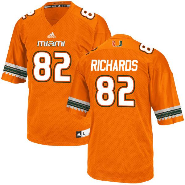 Men's Ahmmon Richards Miami Hurricanes Replica Orange adidas Jersey