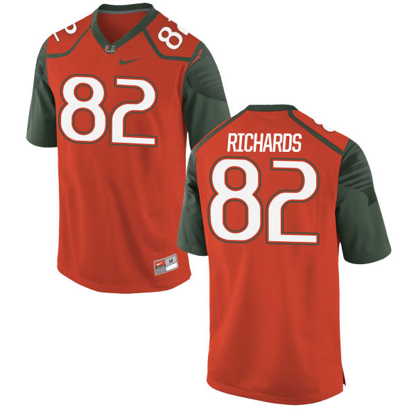 Youth Nike Ahmmon Richards Miami Hurricanes Authentic Orange Football Jersey
