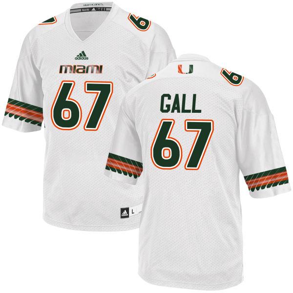 Men's Alex Gall Miami Hurricanes Replica White adidas Jersey