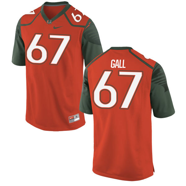 Men's Nike Alex Gall Miami Hurricanes Authentic Orange Football Jersey