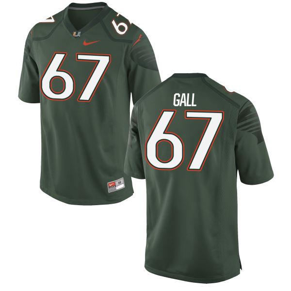 Men's Nike Alex Gall Miami Hurricanes Game Green Alternate Jersey
