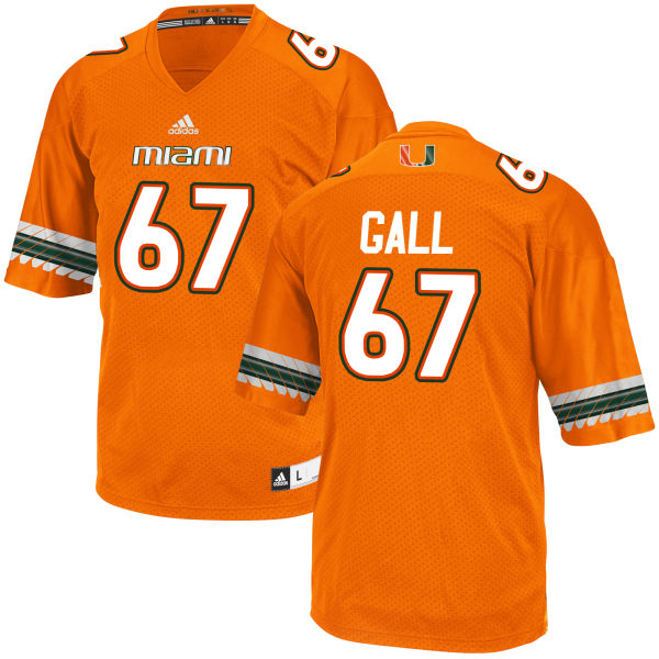 Men's Alex Gall Miami Hurricanes Game Orange adidas Jersey