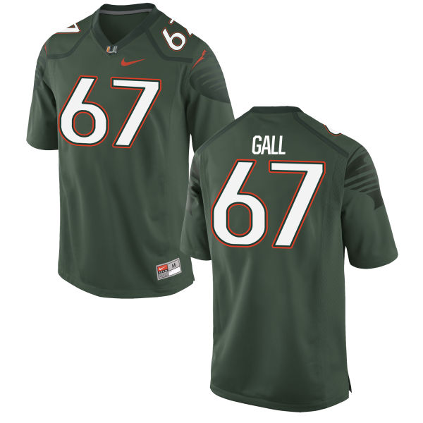Men's Nike Alex Gall Miami Hurricanes Limited Green Alternate Jersey