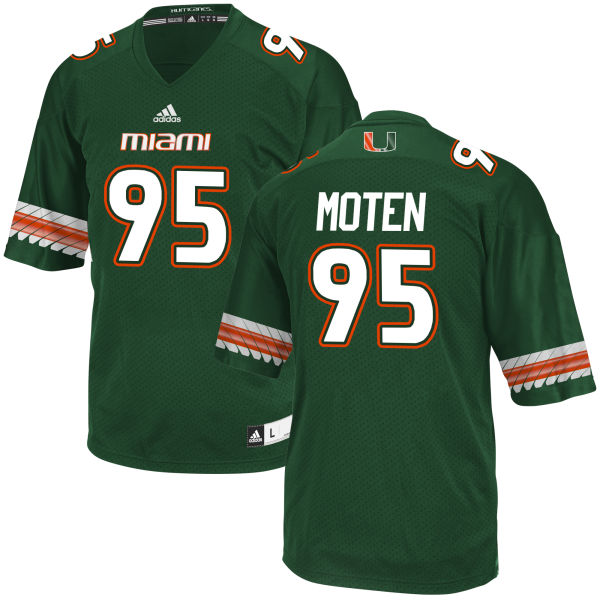Men's Anthony Moten Miami Hurricanes Game Green adidas Jersey