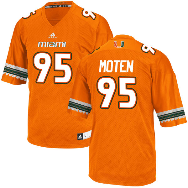 Men's Anthony Moten Miami Hurricanes Limited Orange adidas Jersey