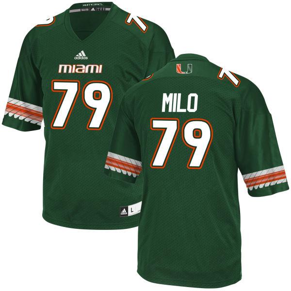 Men's Bar Milo Miami Hurricanes Replica Green adidas Jersey