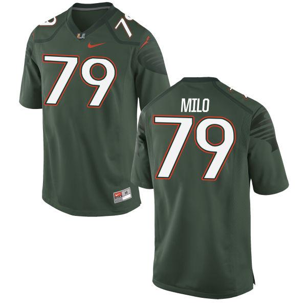Men's Nike Bar Milo Miami Hurricanes Game Green Alternate Jersey