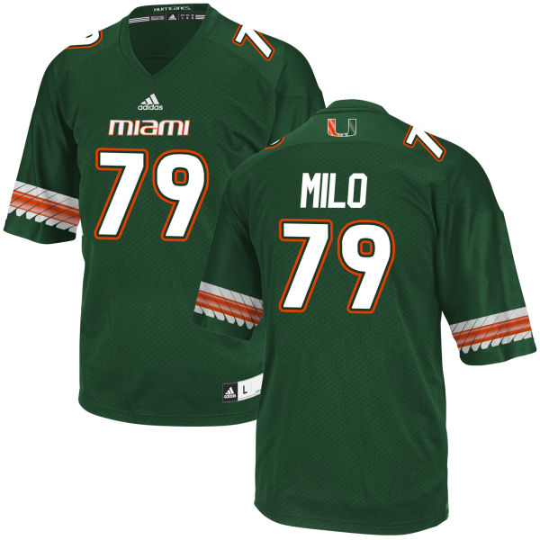 Men's Bar Milo Miami Hurricanes Game Green adidas Jersey