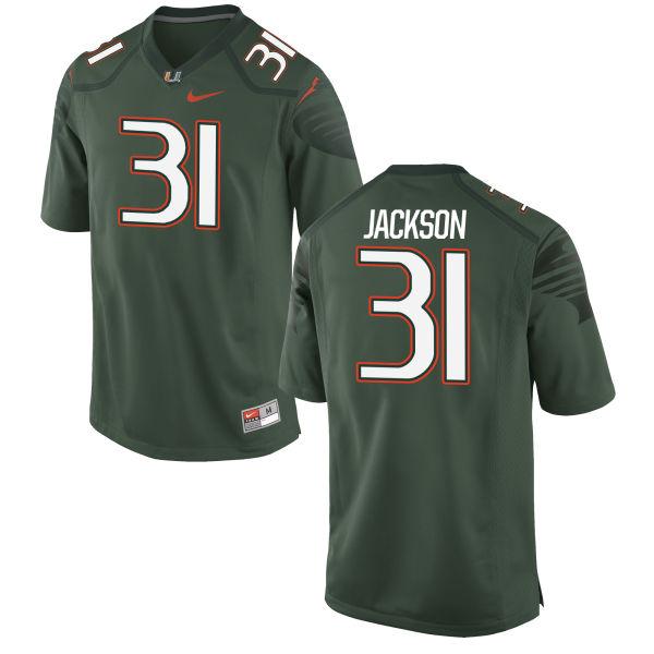 Men's Nike Demetrius Jackson Miami Hurricanes Game Green Alternate Jersey