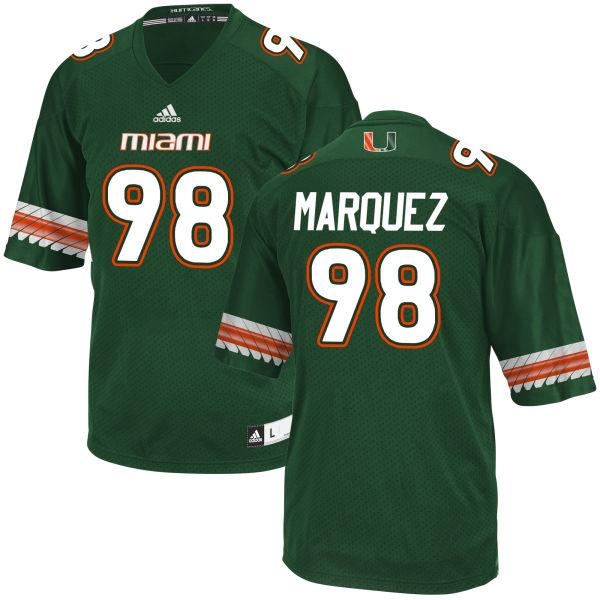 Men's Diego Marquez Miami Hurricanes Replica Green adidas Jersey