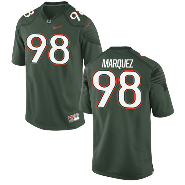 Men's Nike Diego Marquez Miami Hurricanes Authentic Green Alternate Jersey
