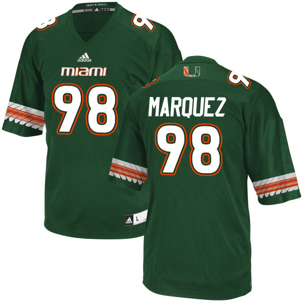 Men's Diego Marquez Miami Hurricanes Game Green adidas Jersey