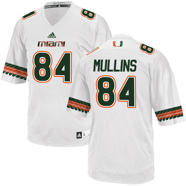 Men's Dionte Mullins Miami Hurricanes Authentic White adidas Jersey