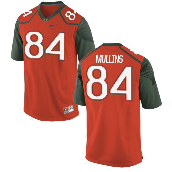 Men's Nike Dionte Mullins Miami Hurricanes Limited Orange Football Jersey