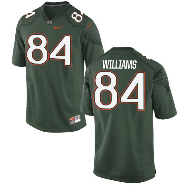 Men's Nike Dionte Williams Miami Hurricanes Game Green Alternate Jersey