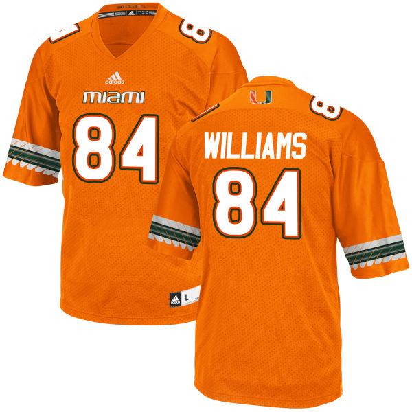 Men's Dionte Williams Miami Hurricanes Game Orange adidas Jersey