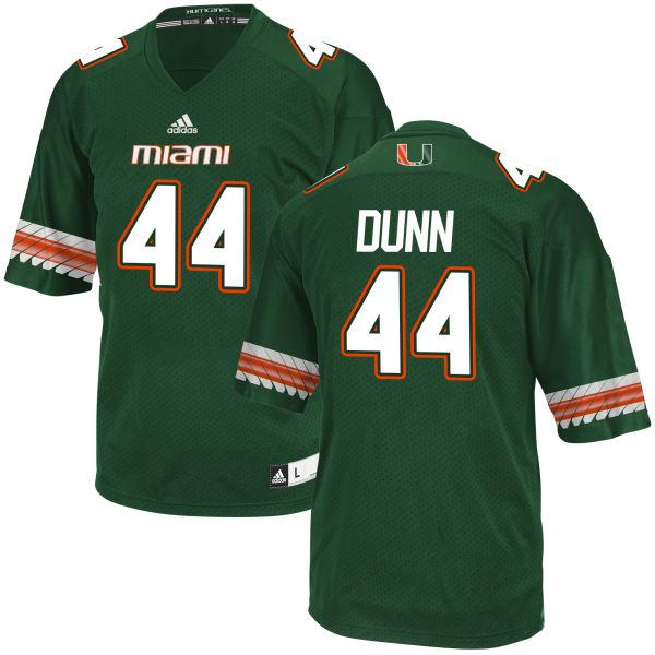 Men's Eddie Dunn Miami Hurricanes Game Green adidas Jersey