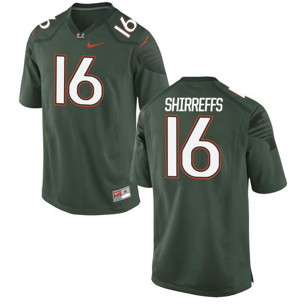 Men's Nike Evan Shirreffs Miami Hurricanes Limited Green Alternate Jersey