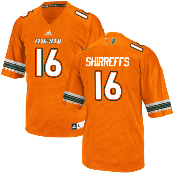 Youth Evan Shirreffs Miami Hurricanes Replica Orange adidas Jersey
