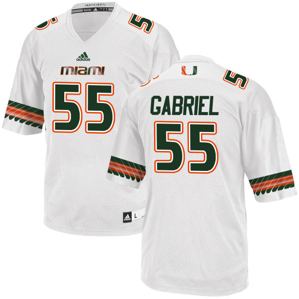 Men's Frank Gabriel Miami Hurricanes Authentic White adidas Jersey