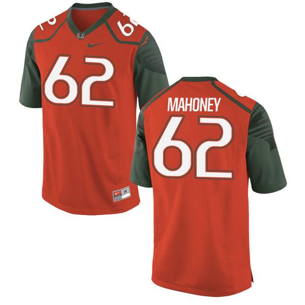 Men's Nike Hayden Mahoney Miami Hurricanes Replica Orange Football Jersey
