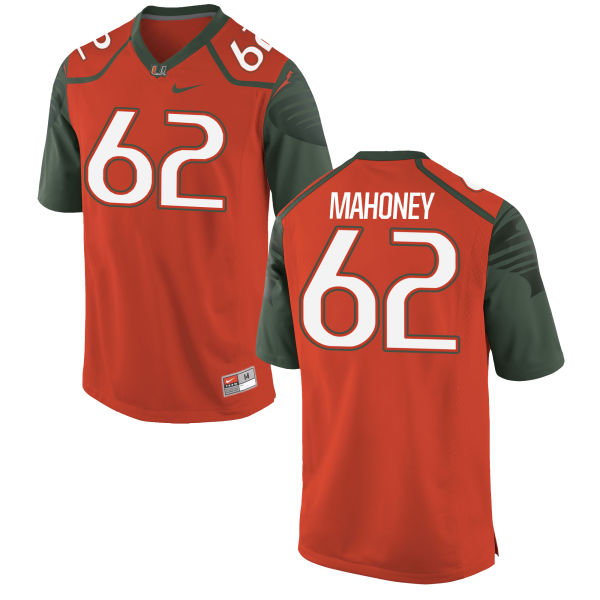 Men's Nike Hayden Mahoney Miami Hurricanes Limited Orange Football Jersey