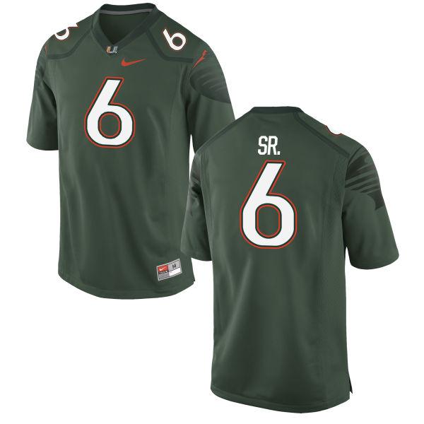 Men's Nike Jamal Carter Sr. Miami Hurricanes Game Green Alternate Jersey