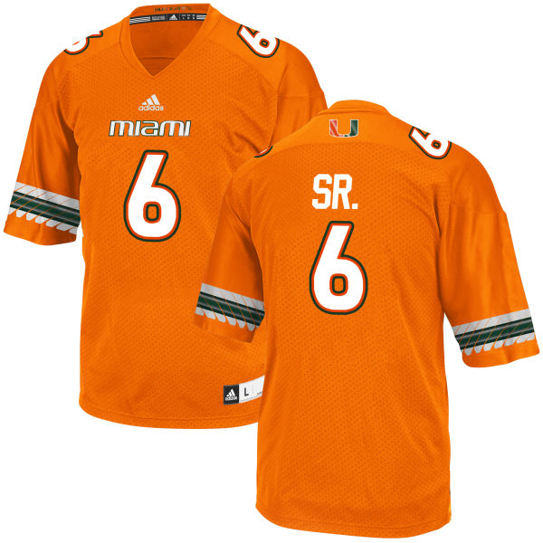 Men's Jamal Carter Sr. Miami Hurricanes Game Orange adidas Jersey