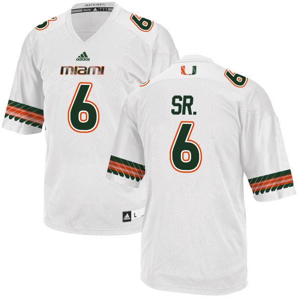 Men's Jamal Carter Sr. Miami Hurricanes Game White adidas Jersey