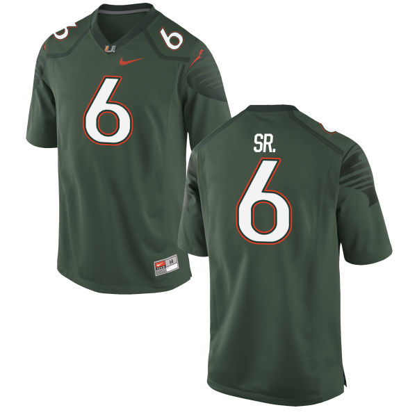 Men's Nike Jamal Carter Sr. Miami Hurricanes Limited Green Alternate Jersey