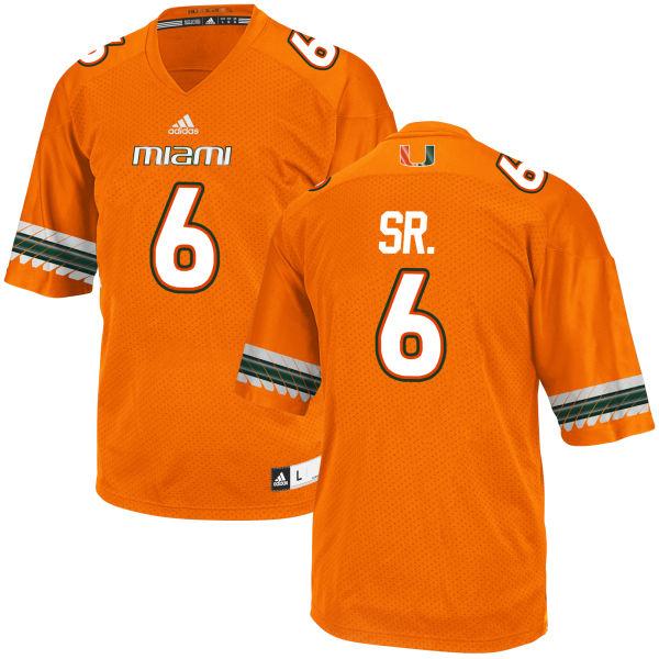 Youth Jamal Carter Sr. Miami Hurricanes Replica Orange adidas Jersey