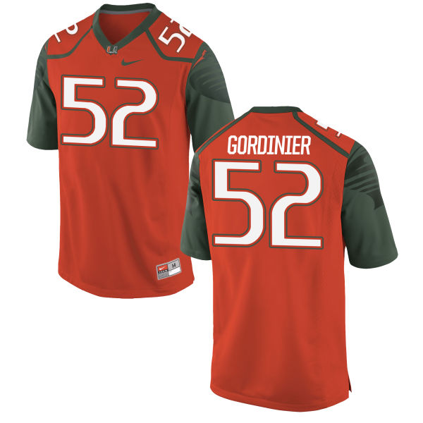 Men's Nike Jamie Gordinier Miami Hurricanes Replica Orange Football Jersey