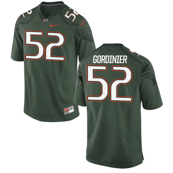 Men's Nike Jamie Gordinier Miami Hurricanes Game Green Alternate Jersey