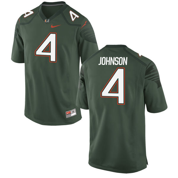 Men's Nike Jaquan Johnson Miami Hurricanes Game Green Alternate Jersey