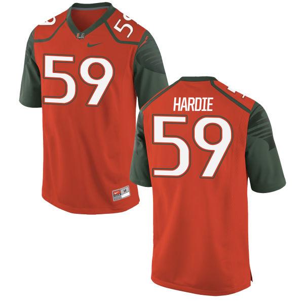 Men's Nike Jared Hardie Miami Hurricanes Game Orange Football Jersey