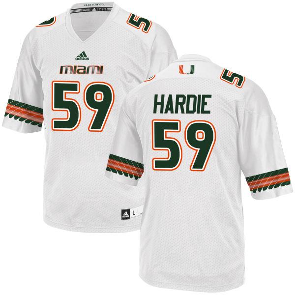 Men's Jared Hardie Miami Hurricanes Game White adidas Jersey