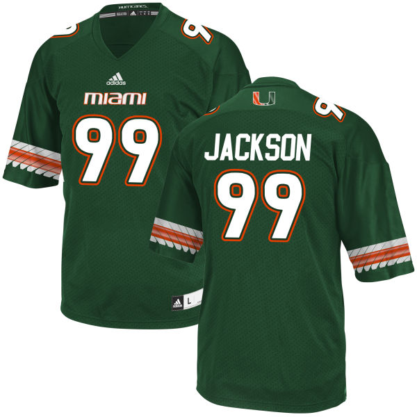 Men's Joe Jackson Miami Hurricanes Game Green adidas Jersey