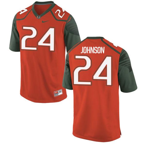 Youth Nike Josh Johnson Miami Hurricanes Replica Orange Football Jersey