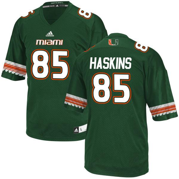 Men's Jovani Haskins Miami Hurricanes Limited Green adidas Jersey