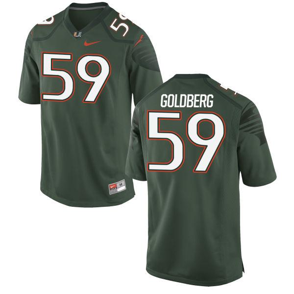 Men's Nike Justin Goldberg Miami Hurricanes Game Gold Alternate Jersey Green