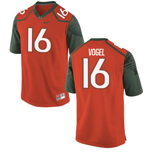 Youth Nike Justin Vogel Miami Hurricanes Replica Orange Football Jersey