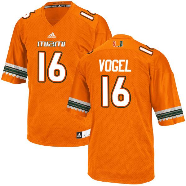 Youth Justin Vogel Miami Hurricanes Replica Orange adidas Jersey