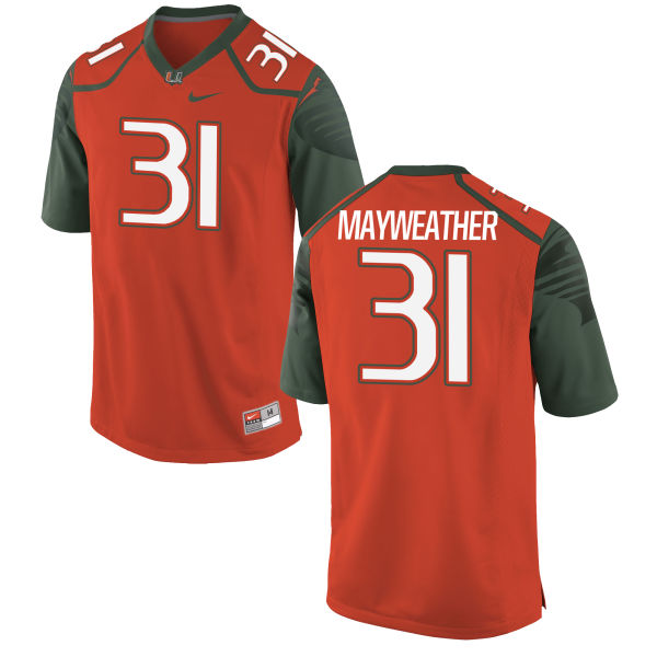 Youth Nike Malik Mayweather Miami Hurricanes Replica Orange Football Jersey