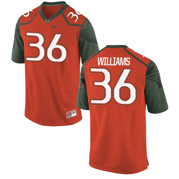 Men's Nike Marquez Williams Miami Hurricanes Limited Orange Football Jersey