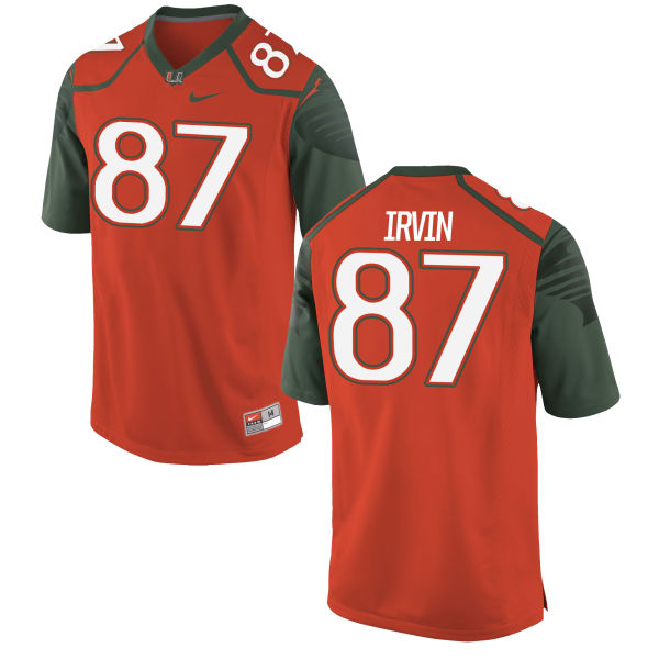 Men's Nike Michael Irvin II Miami Hurricanes Replica Orange Football Jersey