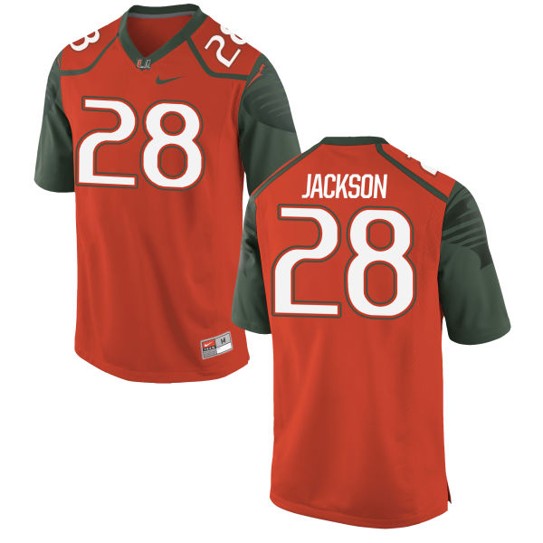 Men's Nike Michael Jackson Miami Hurricanes Replica Orange Football Jersey