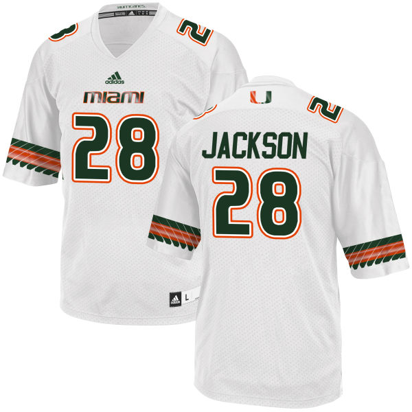Men's Michael Jackson Miami Hurricanes Replica White adidas Jersey
