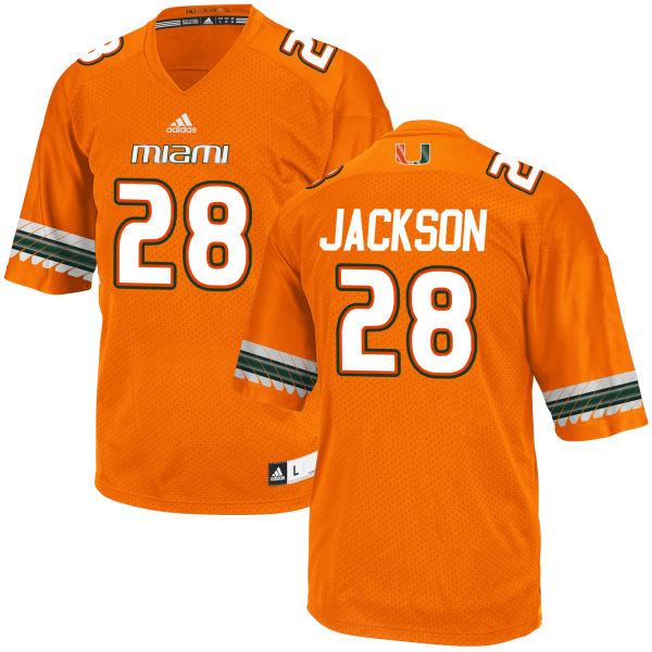 Men's Michael Jackson Miami Hurricanes Game Orange adidas Jersey
